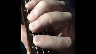 Guitar Lesson - 3 finger pull-off - 3 half-steps