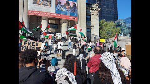 "Vancouver protest ""Bomb Tel Aviv""; ""Long live the Intifada"""