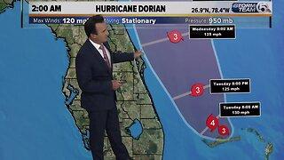 2 a.m. update on Hurricane Dorian (9-3-19)