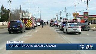 Pursuit ends in deadly crash