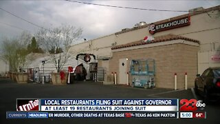 Local restaurants filing suit against governor
