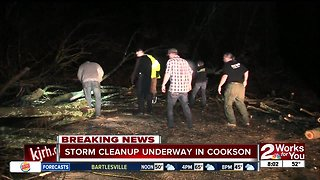Storm cleanup underway in Cookson