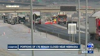 Portions of I-76 remain closed near Nebraska