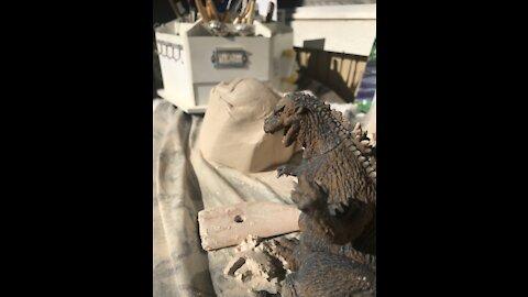 CLAY Godzilla