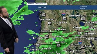 Showers and thunderstorms headed in Tampa Bay area