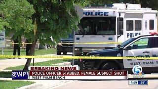 Officer stabbed, suspect shot