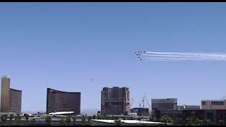 Thunderbirds flew over Las Vegas today