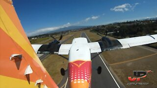 Awesome view from the tail of a plane!