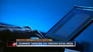 Scammers targeting through social media