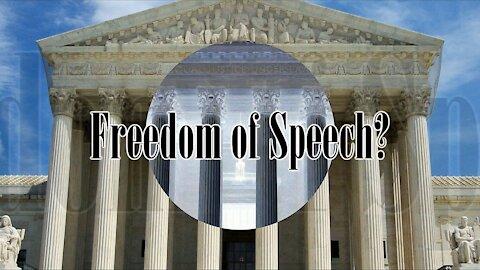 Freedom of Speech - It's Not Freedom to Break the Law