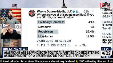 More Americans Are Trying To Deal With Being Politically Homeless 02/16/2021
