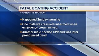 Fatal boating accident reported in Charlotte Harbor