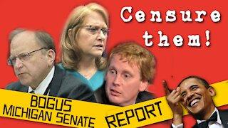 July 2021 meeting - Censure Michigan Senate