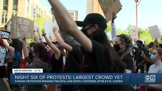 Protests in Phoenix for sixth straight night
