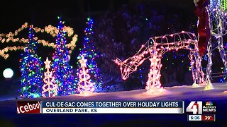 Entire cul-de-sac comes together for Christmas light display
