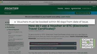 Frontier Airlines Vouchers Expiring