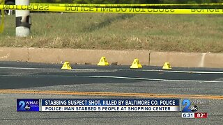 Stabbing suspect shot, killed by Baltimore County Police