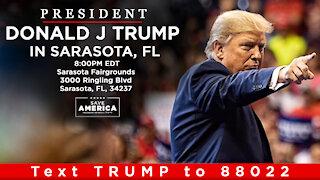 LIVE: President Donald J Trump in Sarasota, FL