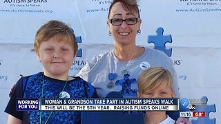 Grandmother and grandson take part in Autism Speaks Walk