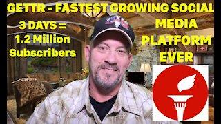 GETTR SOCIAL MEDIA PLATFORM CRUSHING NUMBERS 1.2M