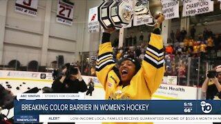 Breaking colr barrier in women's hockey