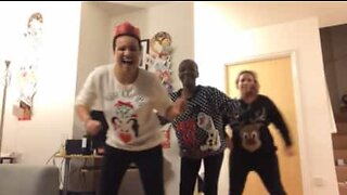 Family entertains internet with their Christmas funk and soul dance