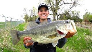Catching GIANT Bass on Jigs - Spring Bass Fishing