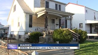 Warren family loses six pets in house fire