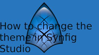 How to change the theme in synfig.