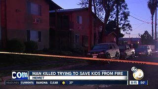 Hemet man killed trying to save kids from fire