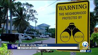 Boynton Beach police concerned about a spike in gun thefts from vehicles