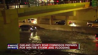 Oakland County Road Commission prepares for winter storm and flooding