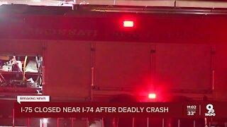 Police: Three killed in crash, I-75 north closed at Hopple