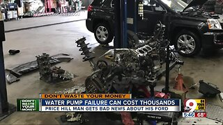 Ford water pump repair can cost thousands