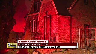 House fire suspected to be arson on Detroit's west side