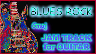 450 BLUES ROCK Jam Track in Gmaj for GUITAR