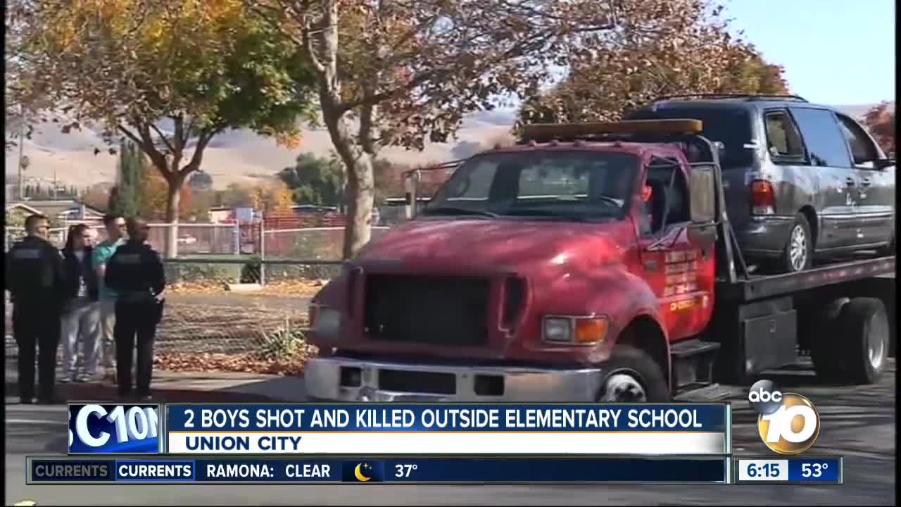 Two boys shot and killed outside elementary school
