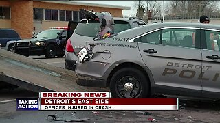 DPD officer injured when vehicle hits cruiser during traffic stop