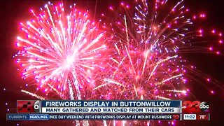 Fireworks display in Buttonwillow