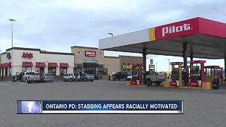 Ontario PD: Stabbing appears racially motivated