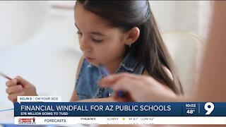 Financial windfall for Arizona public schools