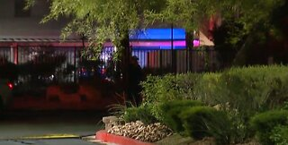Vegas police investigate homicide scene on West Tropicana