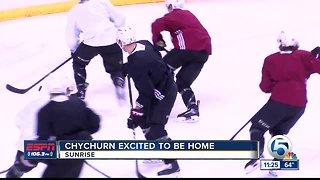 Jakob Chychurn enjoys being back home 3/20