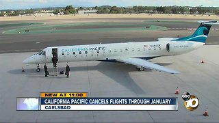 California Pacific Airlines cancels flights in Carlsbad through January