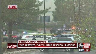2 arrested, 8 hurt in Colorado school shooting