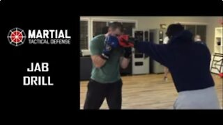 Jab sparring drill