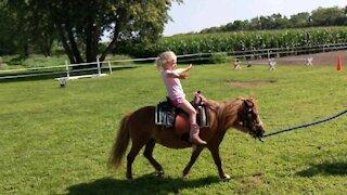 Flower pony and Carolyn