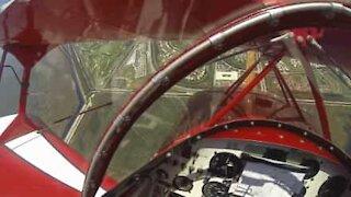 Aereo recupera quota dopo un'avaria del motore