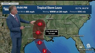 Marco weakens to a tropical Depression
