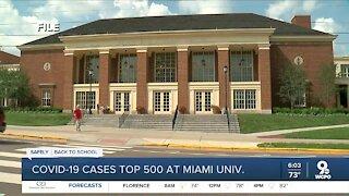 COVID-19 cases top 500 at Miami University